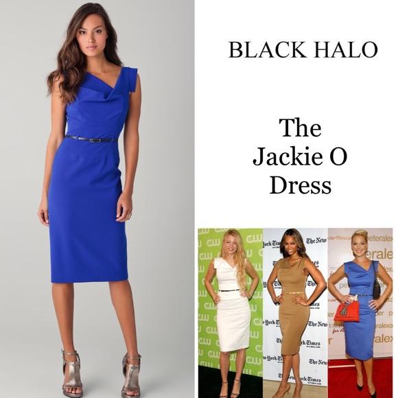 ca58689c Black Halo Dresses & Skirts - LIKE NEW Black Halo Jackie O Midi Dress  Cobalt 4
